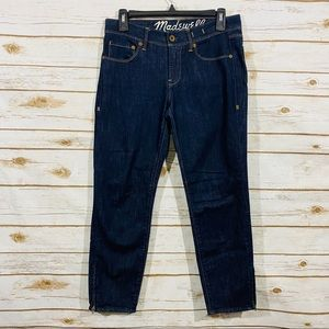 Madewell women's ankle crop jeans size 27
